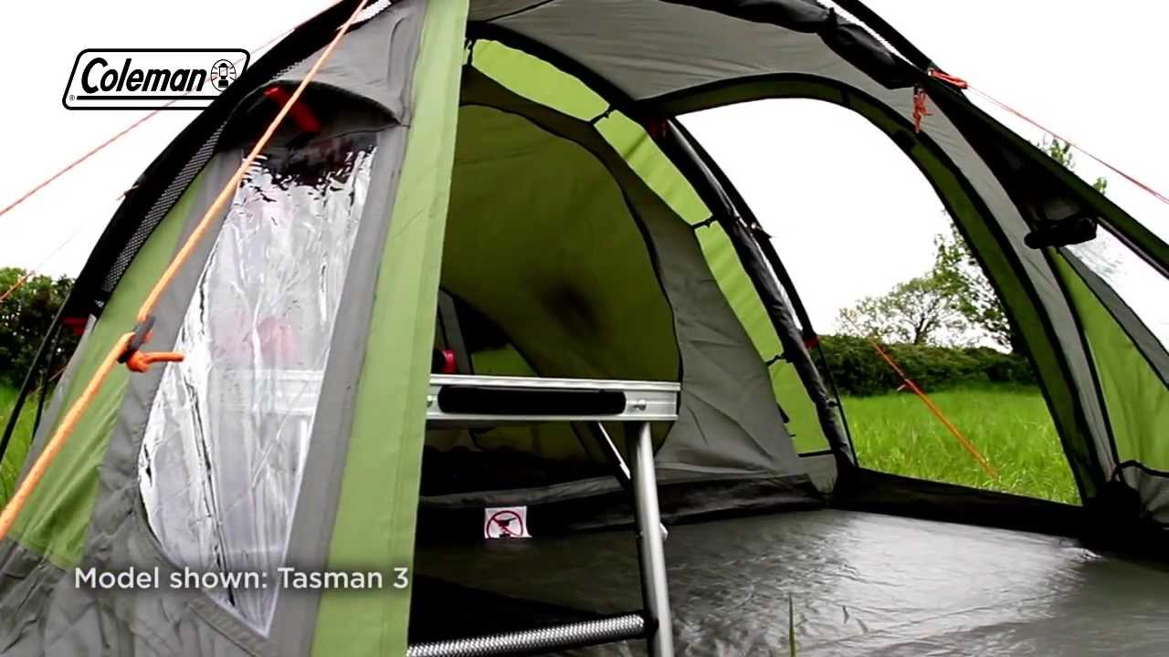 & Coleman® Tasman 4 - Weekend Camping Tent - YouTube