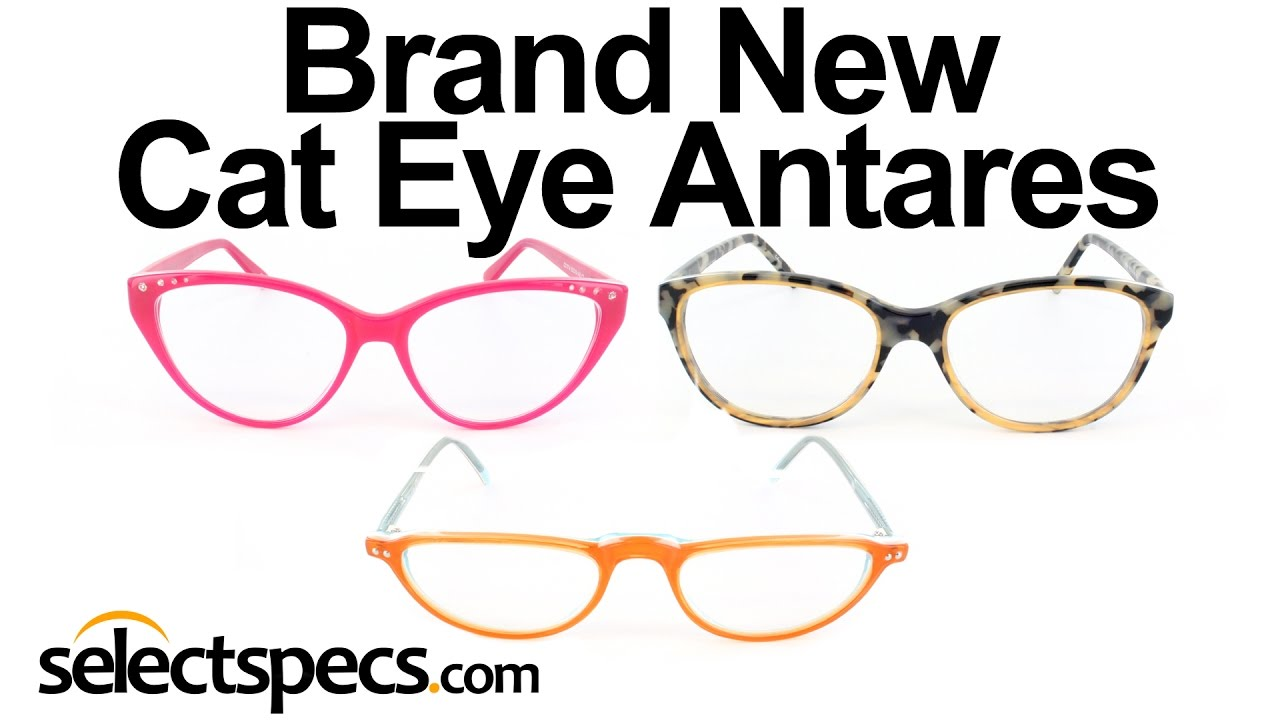 Brand New Cat Eye Antares Glasses Frames - Selectspecs.com - YouTube