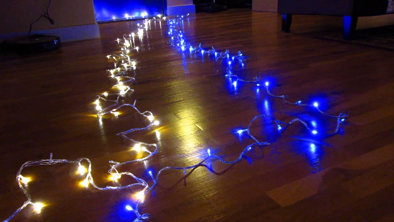 ebay 100 led xmas lights part 1 demo all 8 flashing fairy light modes and patterns review youtube - Blinking Led Christmas Lights