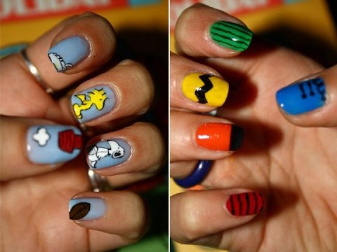 Snoopy & friends - Tutorial nail art - Snoopy & Friends - Tutorial Nail Art - YouTube