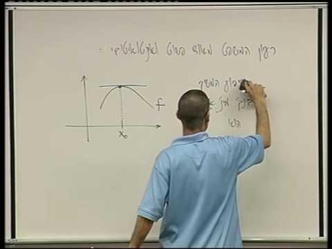 חקירת פונקציות - 7 - איך מוצאים נקודות קיצון