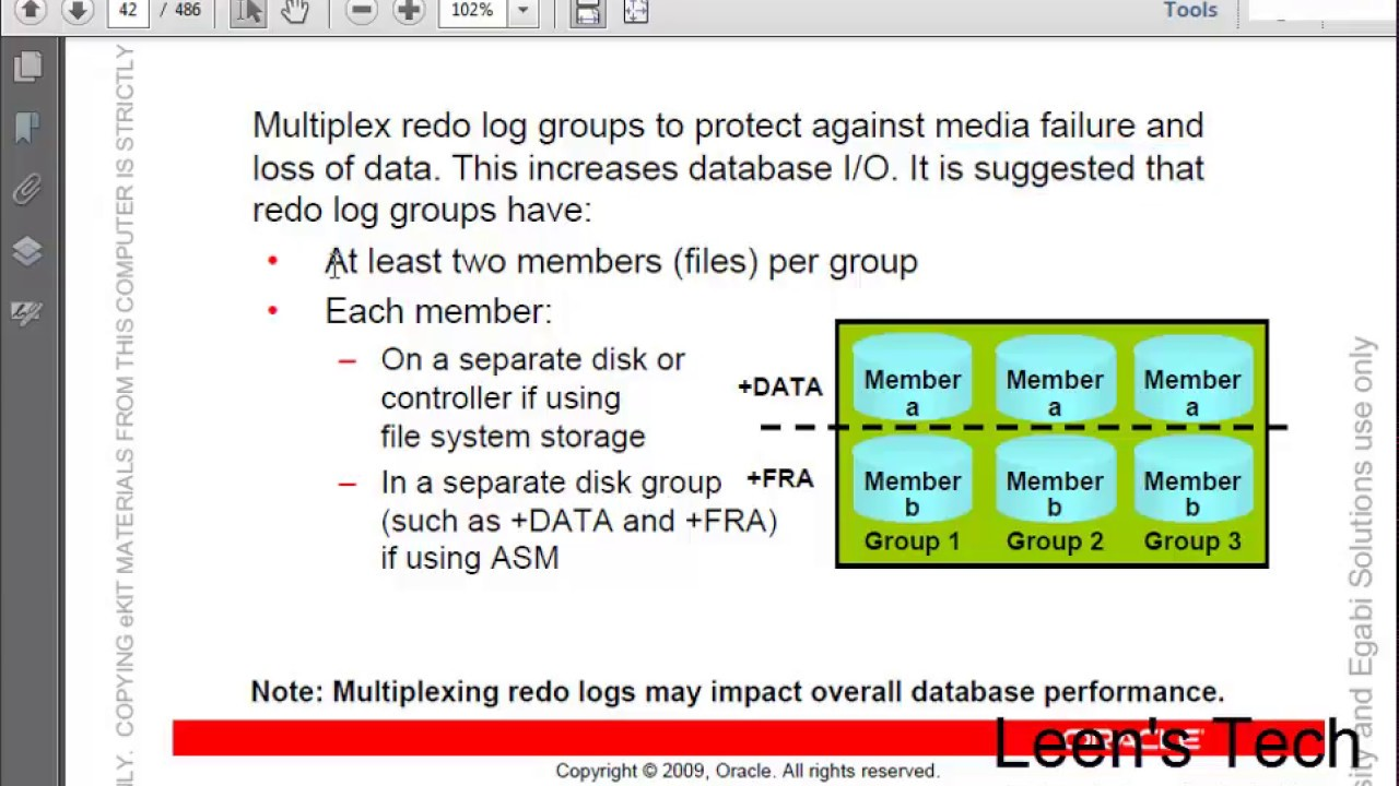 Oracle DBA 11g Tutorial in Bangla: Lesson#14 Part#4 Backup and Recovery  Concepts| Multiplex Redo Log