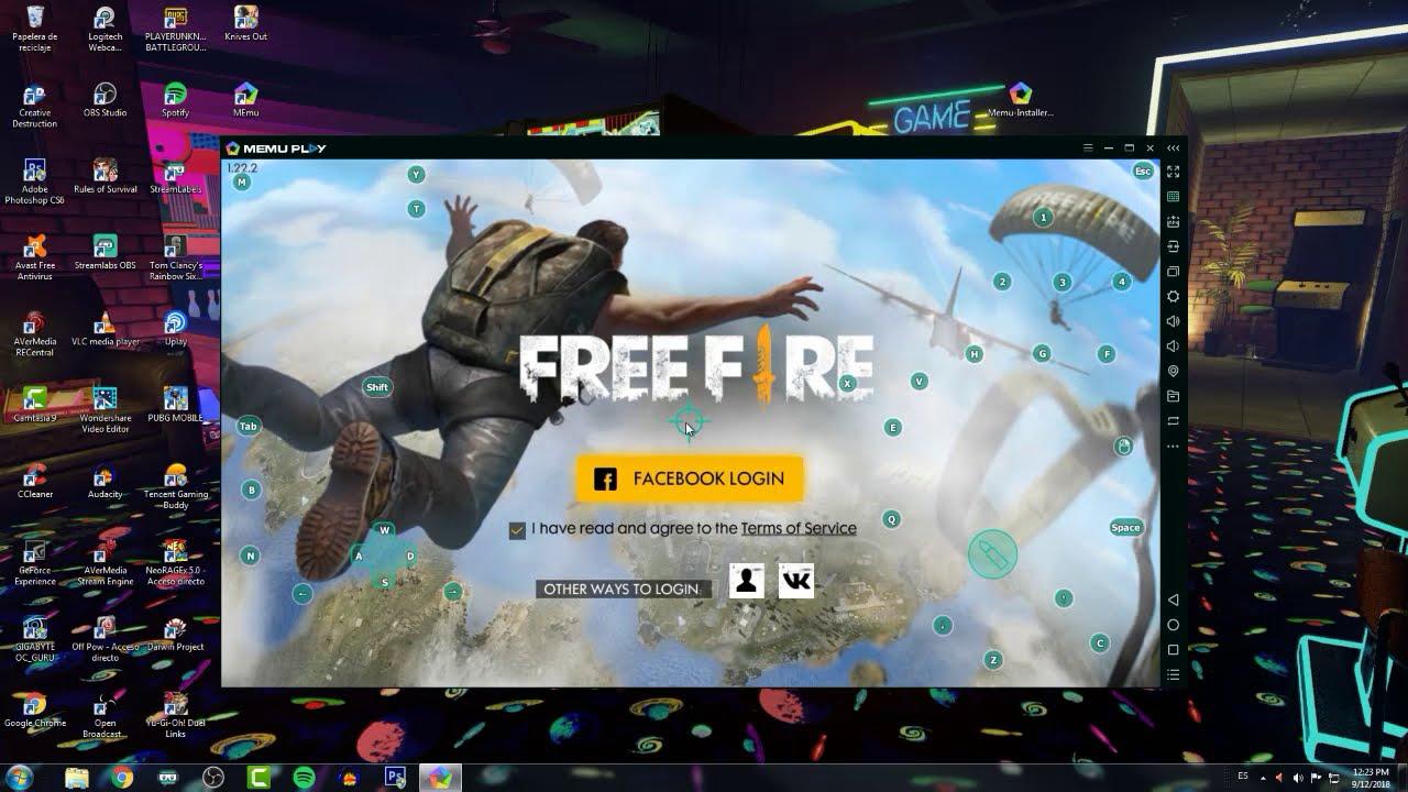 como jugar free fire en windows pc
