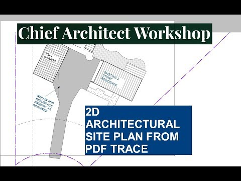 HOW TO CREATE 2D ARCHITECTURAL SITE PLAN FROM PDF TRACE