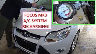 How to Recharge the A/C System on Focus MK3. Charge Air Conditioner Focus 2011 - 2016