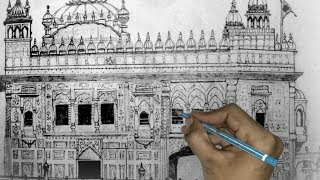 Making of the Sketch, Gurudwara Darbar Sahib | GOLDEN TEMPLE | multi task |