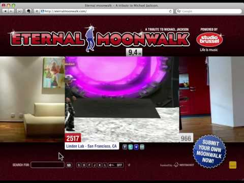 Linden Lab employees do the moonwalk