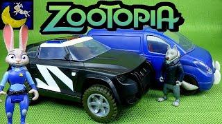 Disney Zootopia Toys! Officer Judy Hopps Police Cruiser & Mr Ottertons Capture Van Playset Toys