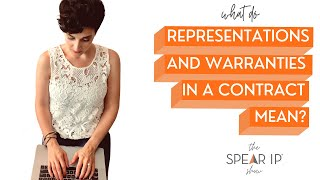 What are Representations and Warranties in a Contract | the Spear IP Show | Nashville IP Lawyer