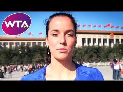 Jarmila Gajdosova Presents the Dubai Duty Free Full of Surprises Travel Show in Beijing | WTA