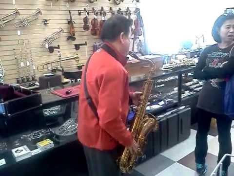 A Customer Plays A MARK VI @ O. DiBella Music in Bergenfield, NJ