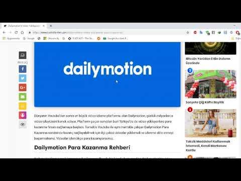 Dailymotion'a Video Yükleyerek Para Kazanmak!