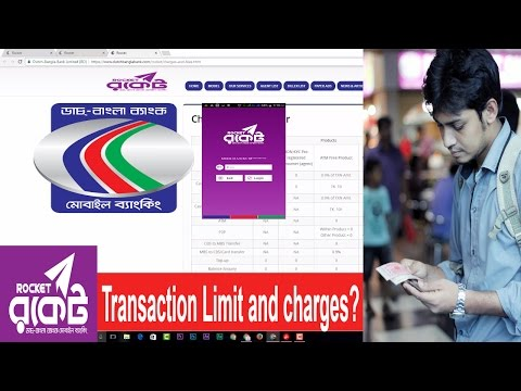 DBBL Rocket Transaction Limit and charges and fees (Dutch-Bangla Bank Mobile Banking )