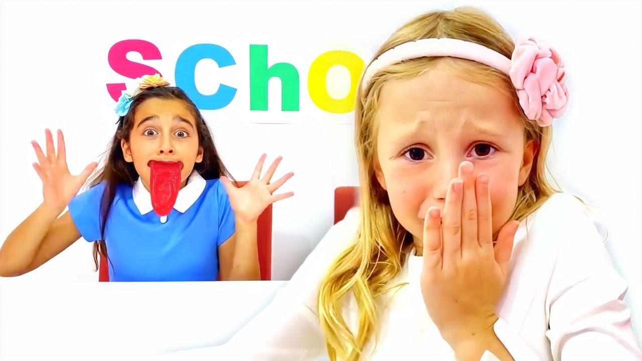 Nastya y amigos dulce desafío en la escuela para los niños