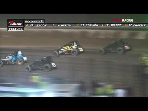 "AMSOIL USAC National Sprint Car Series Feature Highlights ""4 Crown Nationals"" Eldora Speedway"