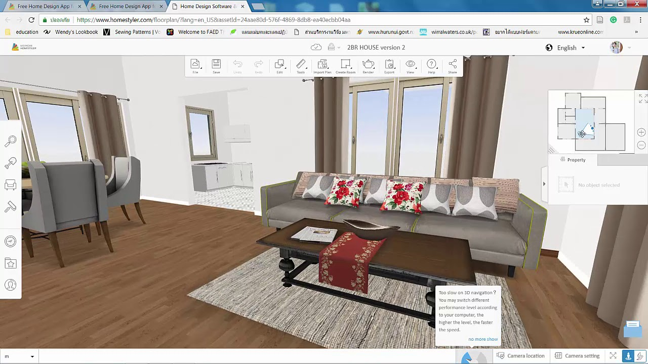 Homestyler: ตอนที่ 2 Update โฉมใหม่ของโปรแกรม Homestyler (online realtime interior design app.)