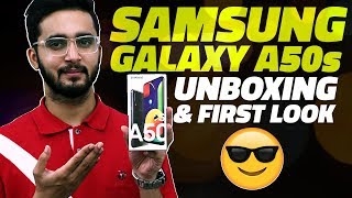 Samsung Galaxy A50s Unboxing and First Look - Prices in India, Key Features