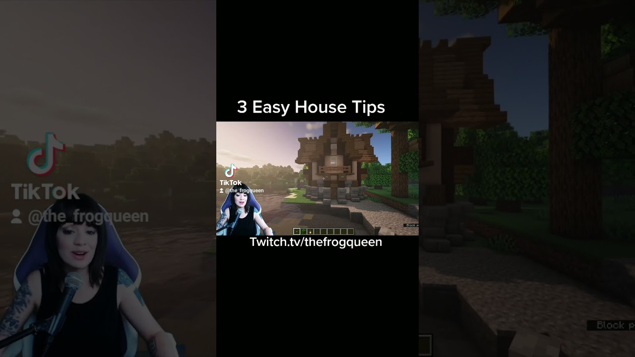 Minecraft : 3 Easy Ways to Improve Your House 1.17.1 #shorts