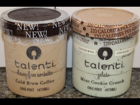 Talenti Dairy Free Sorbetto Cold Brewed Coffee & Less Sugar Mint Cookie Crunch Gelato Review