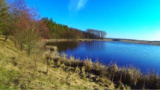 Весенняя ловля карася на реке удочкой с боковым кивком(16.03.2015)