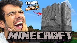 CONSTRUÍMOS A TORRE DO CLASH ROYALE NO MINECRAFT! (ft. Cronosplays)