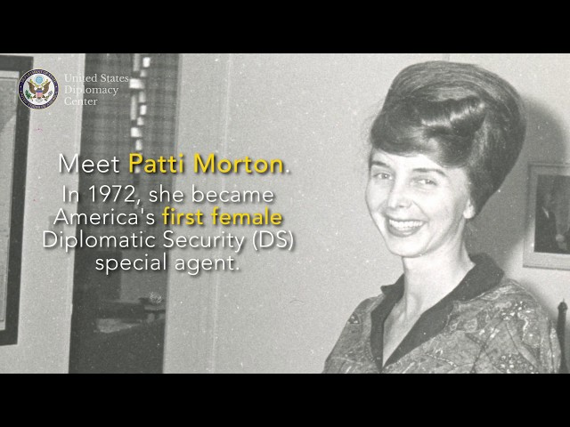 Patti Morton: America's first female Diplomatic Security Special Agent
