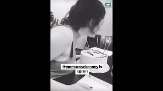 EMMA KENNEY 18TH BIRTHDAY WITH SHAMELESS CAST