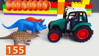 Мультики про машинки Город машинок 155 серия Трактор Динозавры Мультфильмы для детей mirglory