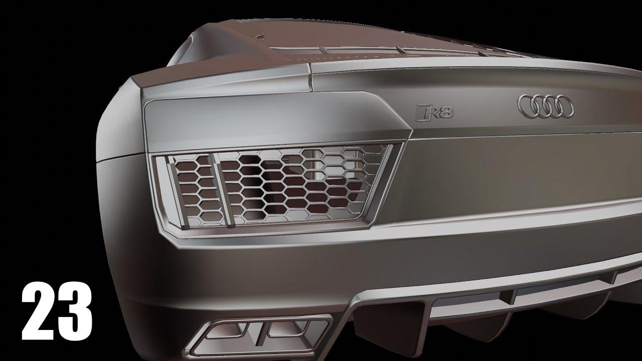 Blender 2.90 Car Modeling - Part 23 [R8 And V10]