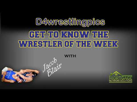 Get To Know The D4wrestlingpics Wrestler Of The Week, Jacob Blair Of Muncy Area High School.
