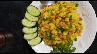 How to make pineapple fried rice!! easy recipe with ingredients