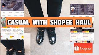 Download SHOPEE HAUL OUTFIT MURAH COWOK| Unboxing+ Try On Celana & Sepatu Kulit