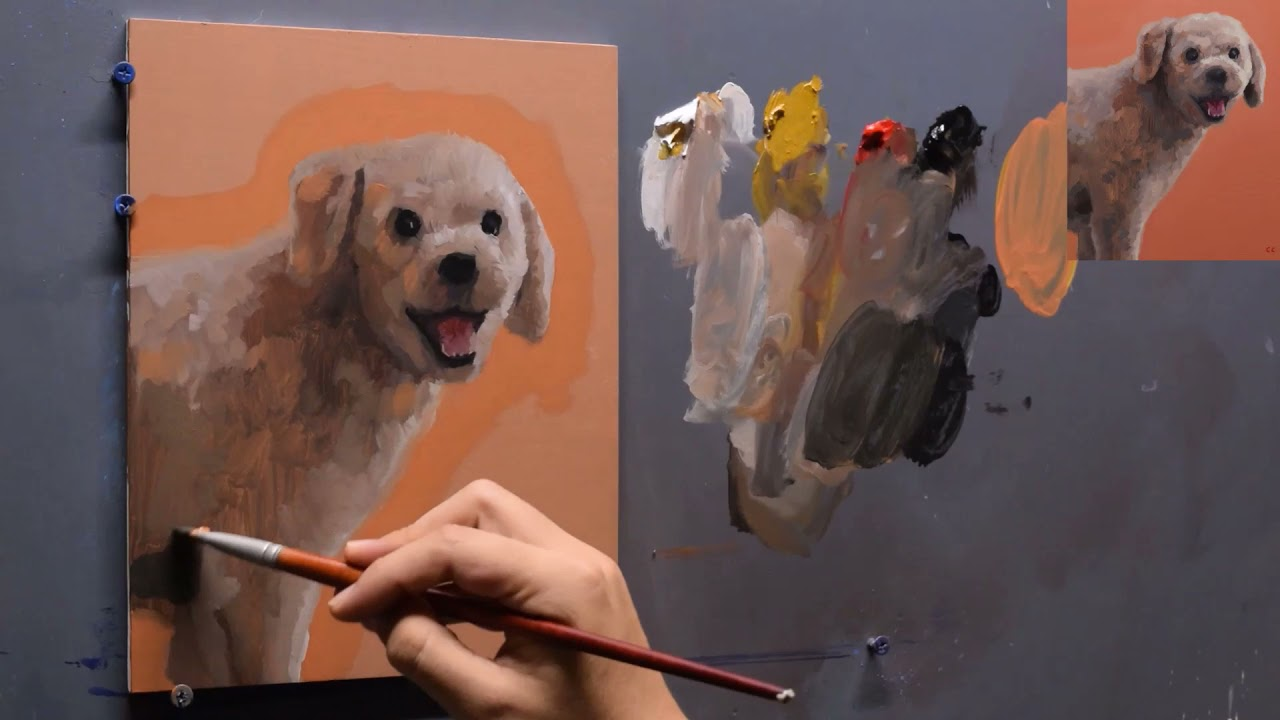Painting My Dog   Zorn's Palette