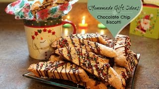 Homemade Gift Idea: Chocolate Chip Biscotti