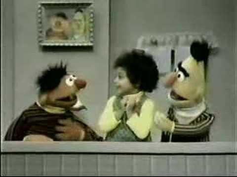 Classic Sesame Street  Ernie, Bert and Shola have feelings