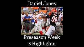 All Daniel Jones Throws vs Bengals - Preseason Week 3 Highlights - 8/22/19