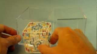 How To Open Ballqube Display Case|clear Cube For 3d Rolling Ball Maze Puzzle Games