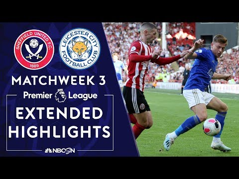 Sheffield United v. Leicester city | PREMIER LEAGUE HIGHLIGHTS | 8/24/19 | NBC Sports
