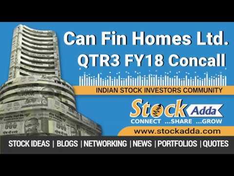 Can Fin Homes Ltd Investors Conference Call Q3FY18
