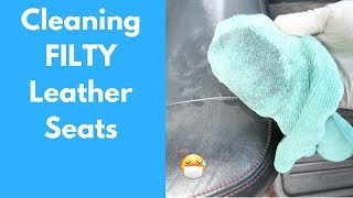 How To Clean FILTHY Leather Car Seats: 5 HOUR Detail - Interior Car Cleaning Walkthrough
