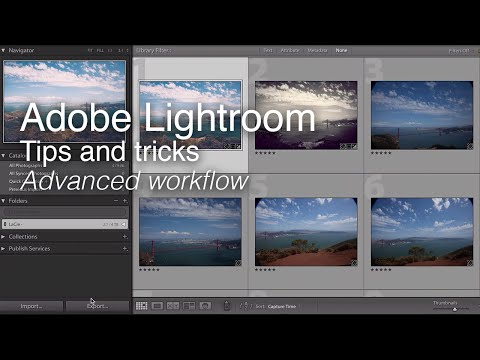 Wex Tips and Tricks | Adobe Lightroom Tutorial - Advanced Workflow Techniques thumbnail