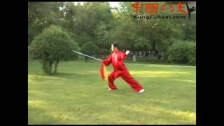 learning basic tai chi--wu style tai chi dao 13 form practice video