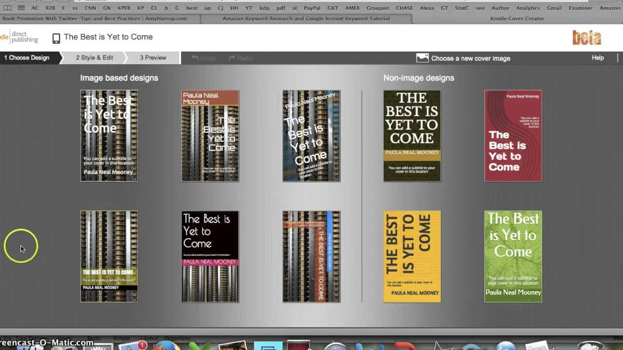 Free Kindle Book Covers: How to Make a Free Amazon eBook Cover using Cover Creator Self-Publishing - YouTube