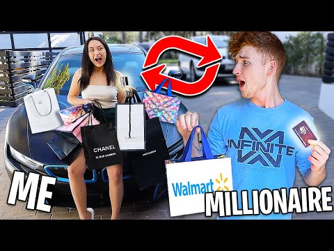 Swapping CREDIT CARDS With A MILLIONAIRE For 24 HOURS! ft. Infinite Lists