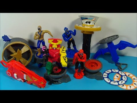 2011 SABAN'S POWER RANGERS SAMURAI SET OF 8 McDONALD'S HAPPY MEAL TOY'S VIDEO REVIEW