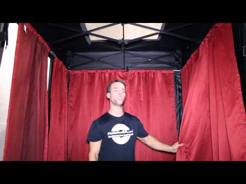 Setting Up The Photo Booth Curtains