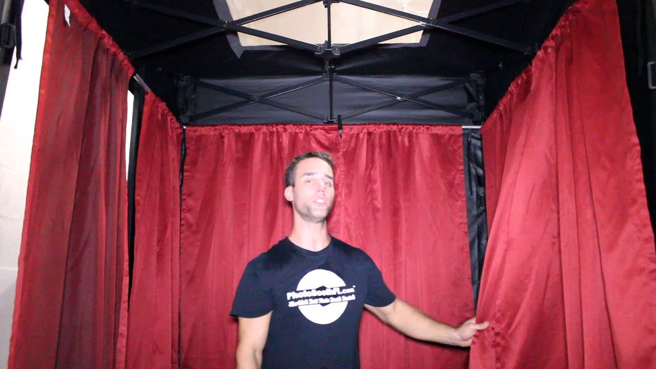 sc 1 st  YouTube & Setting Up The Photo Booth Curtains - YouTube
