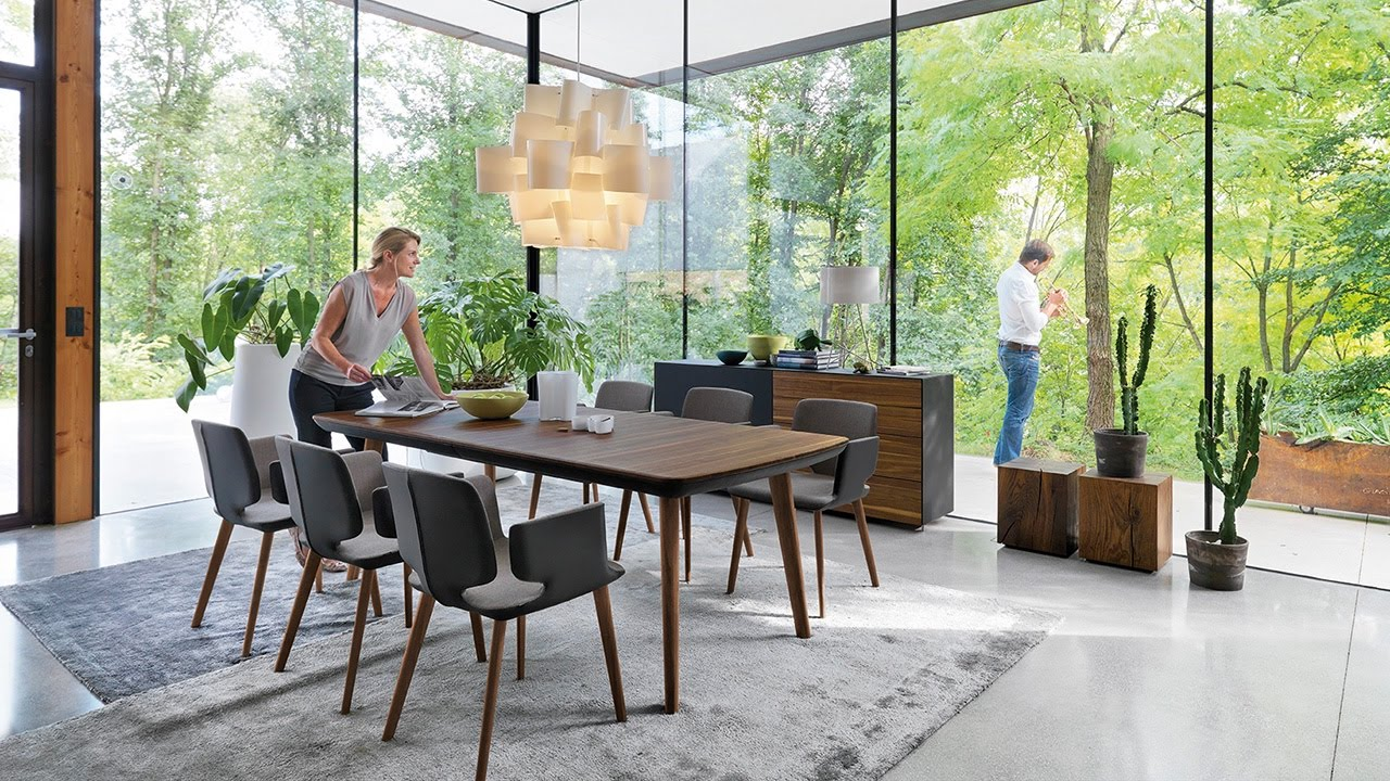 team 7 flaye tisch aye stuhl cubus pure anrichte youtube. Black Bedroom Furniture Sets. Home Design Ideas