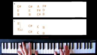 Piano Lesson: Toto - Hold The Line / With Tabs