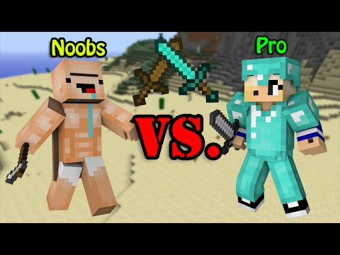 Thumbnail: Noobs VS. Pro - Minecraft
